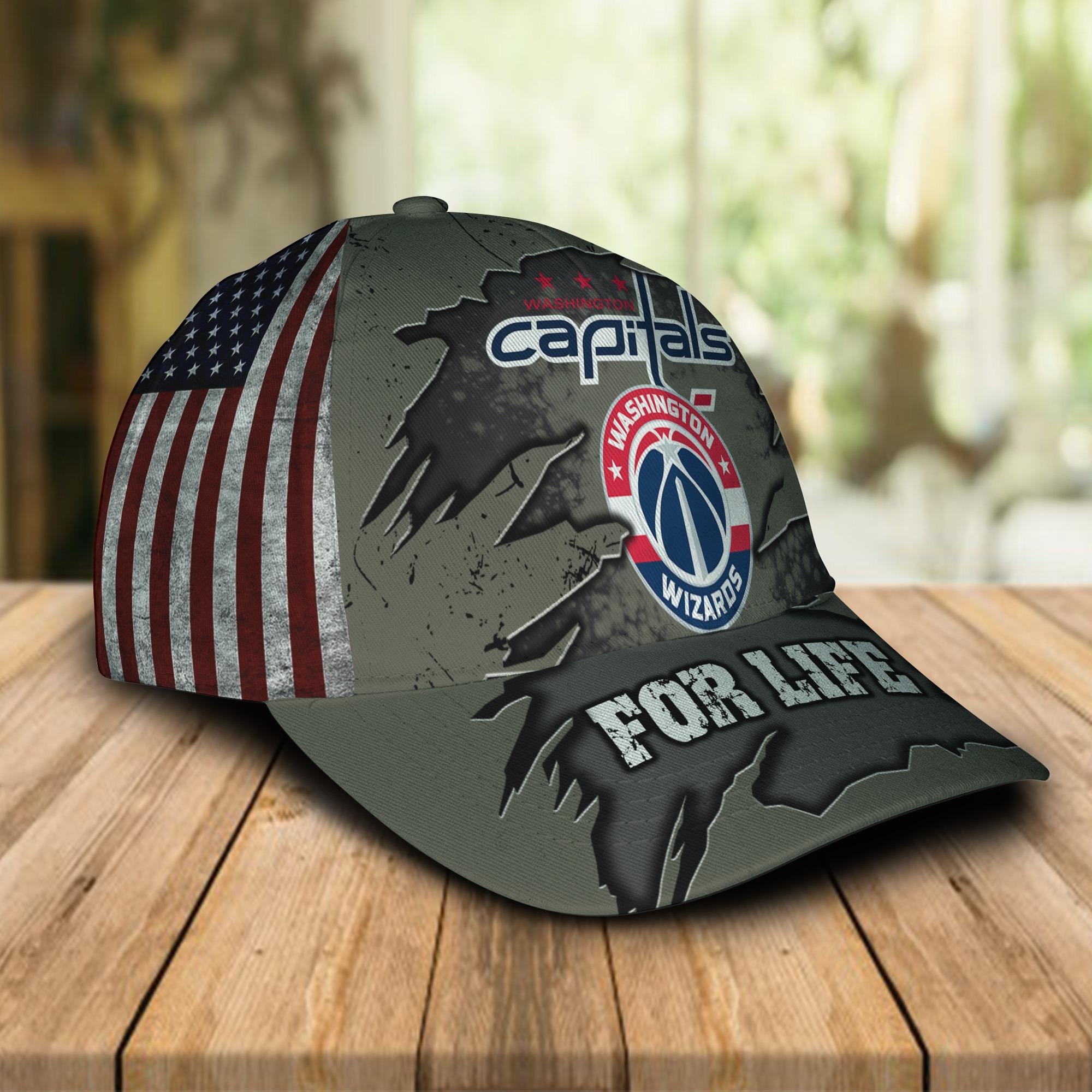 Washington Capitals Washington Football Team For Life Cap 1