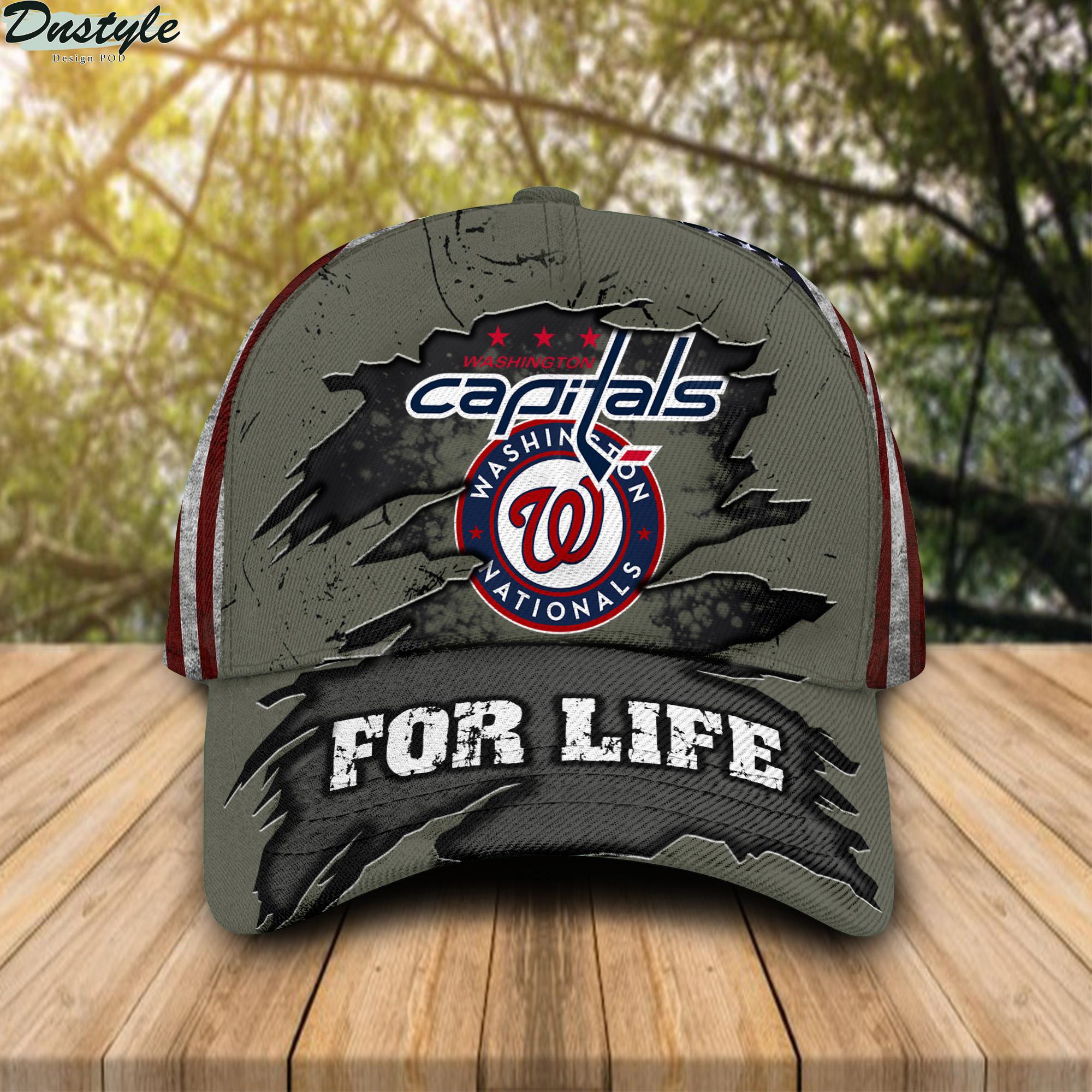 Washington Nationals Washington Capitals For Life Cap