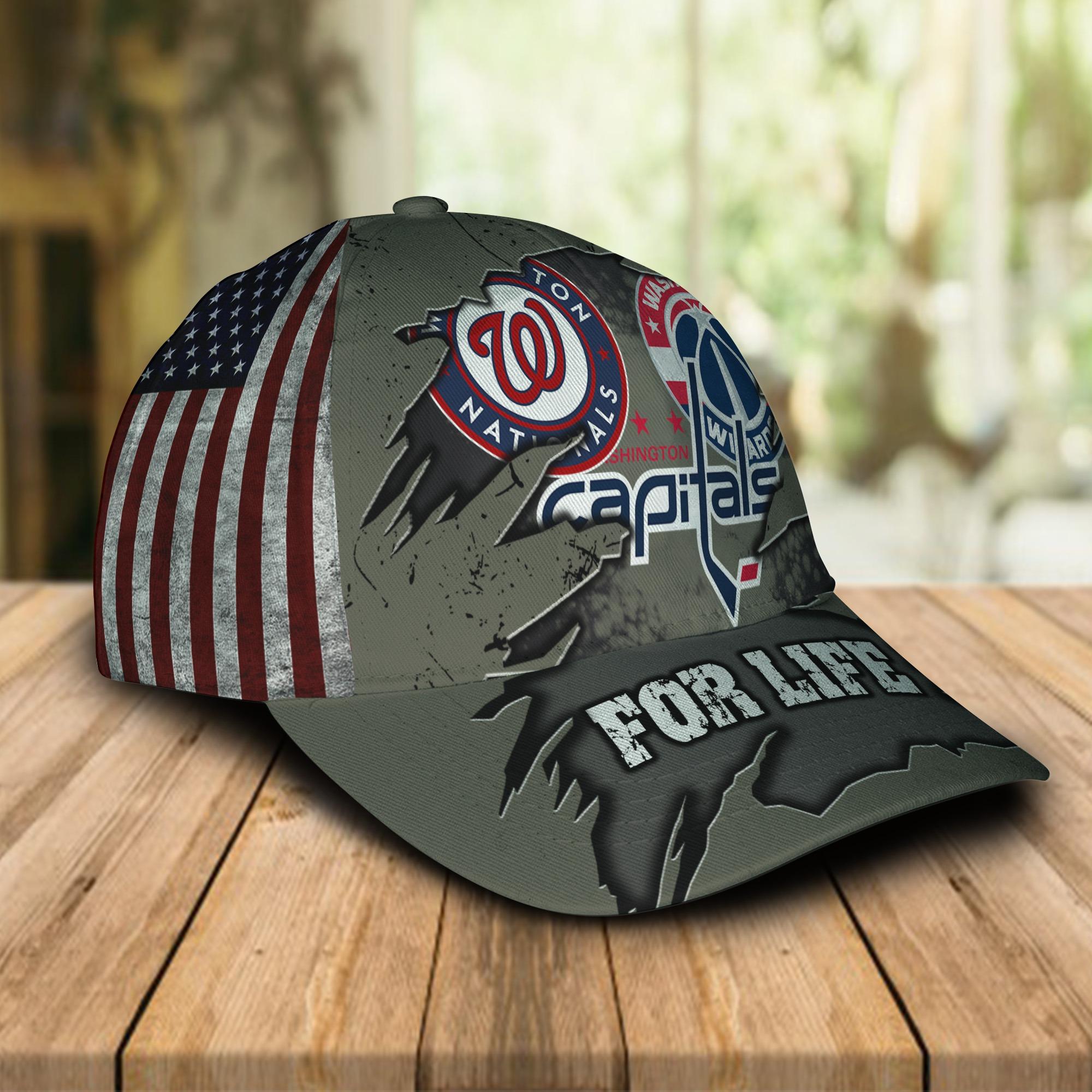 Washington Nationals Washington Capitals Washington Football For Life Cap 1