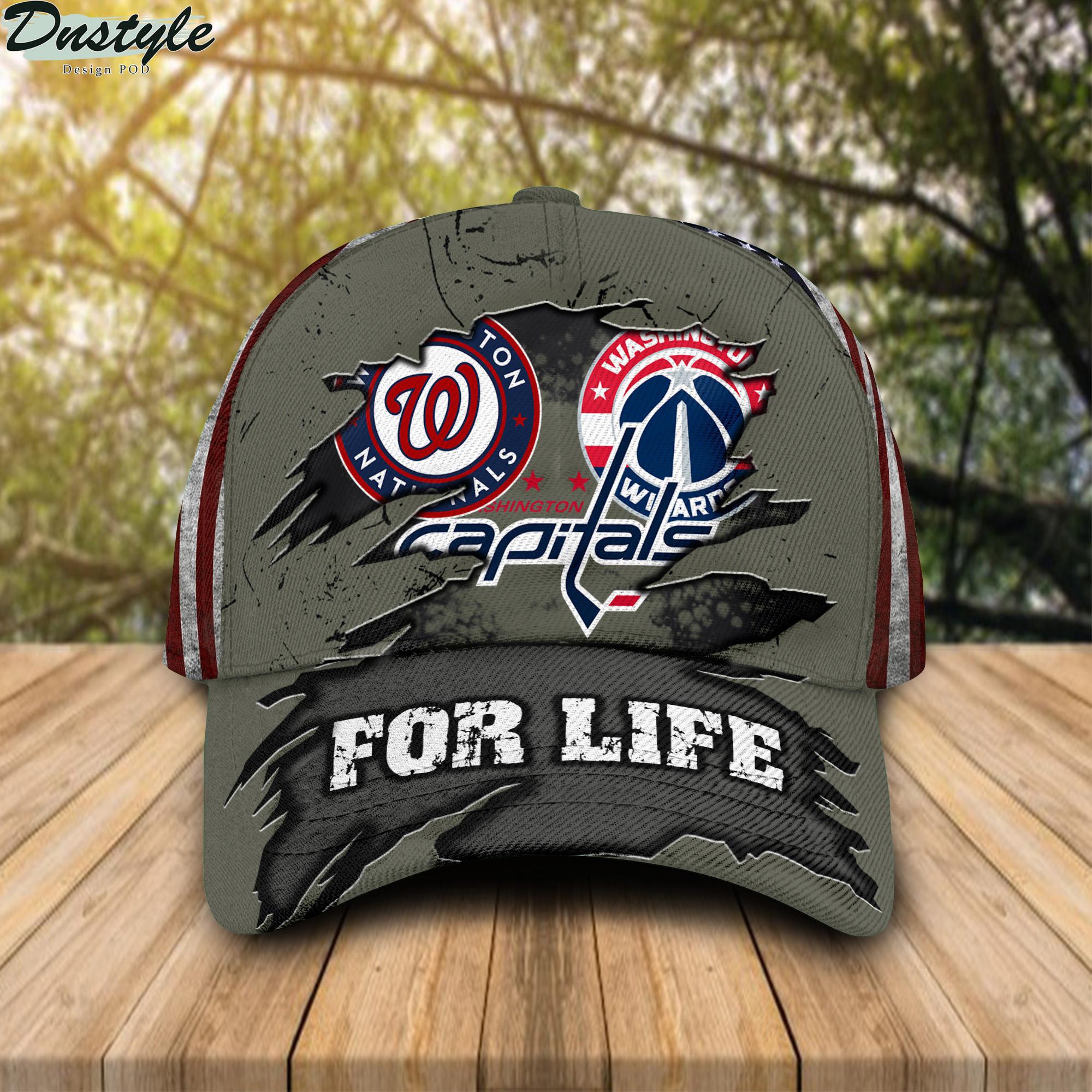 Washington Nationals Washington Capitals Washington Football For Life Cap
