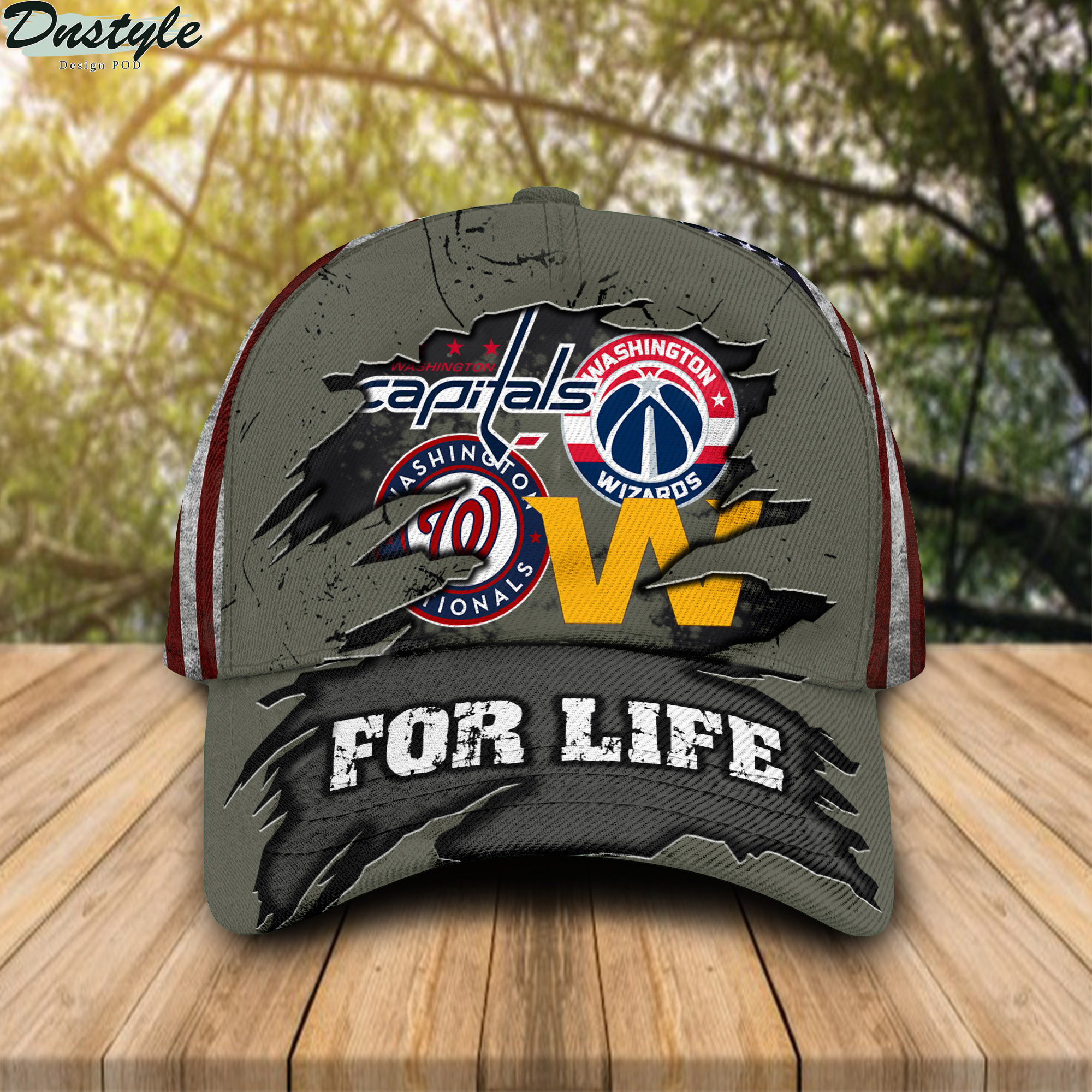 Washington Nationals Washington Capitals Washington Football Team Washington Wizards For Life Cap