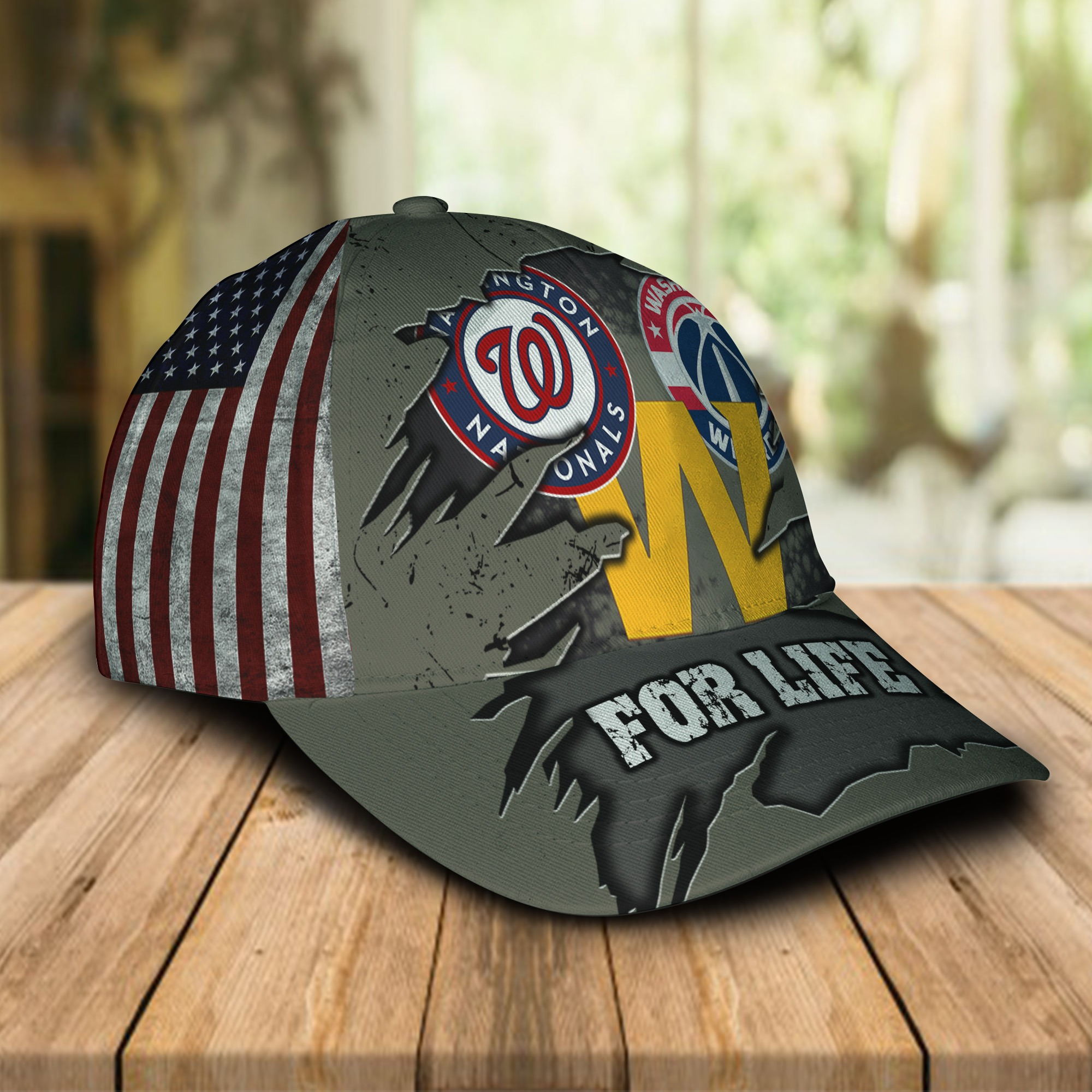 Washington Nationals Washington Football Team Washington Wizards For Life Cap 1