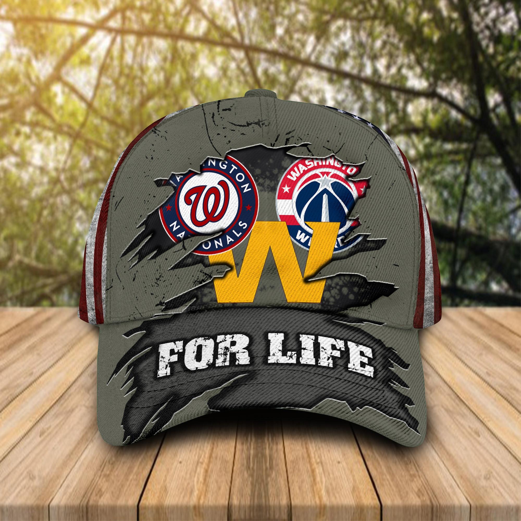 Washington Nationals Washington Football Team Washington Wizards For Life Cap