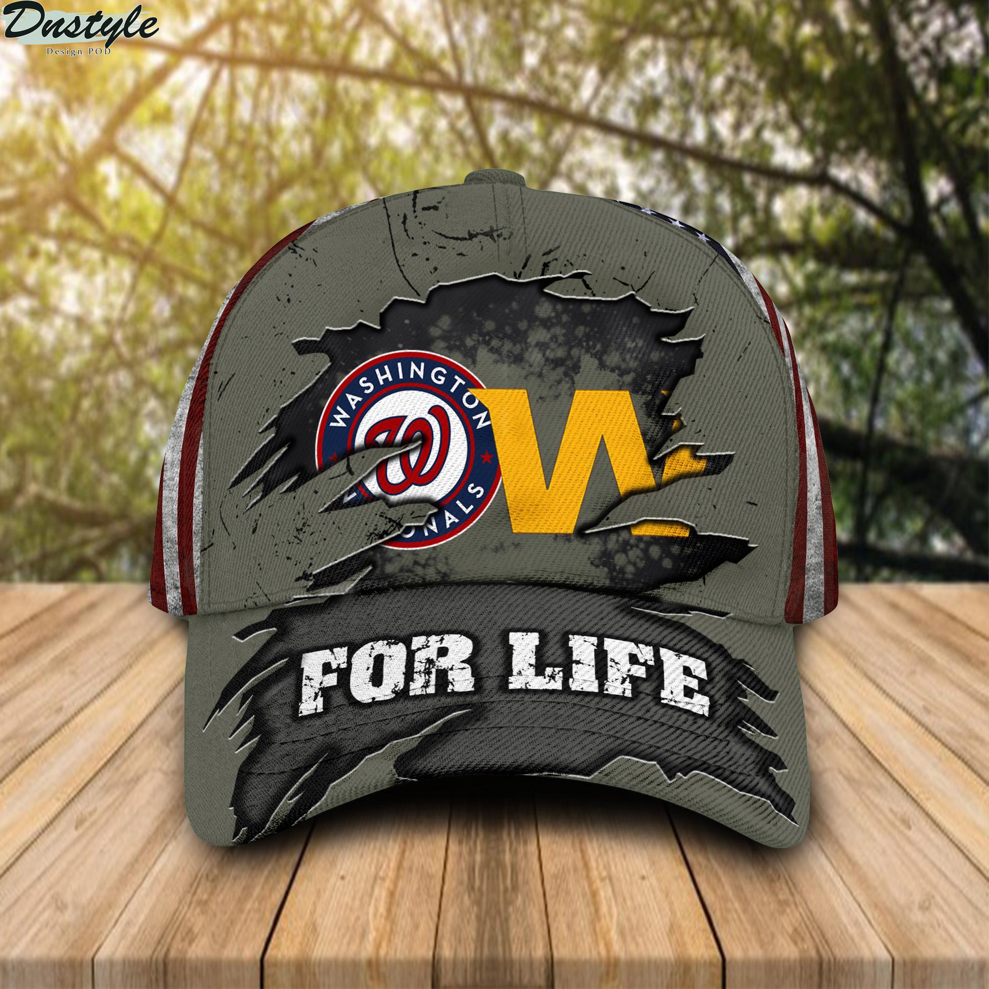 Washington Nationals Washington Wizards For Life Cap
