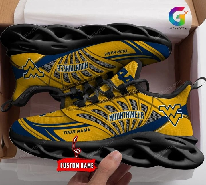 West virginia mountaineers NCAA personalized max soul shoes 1