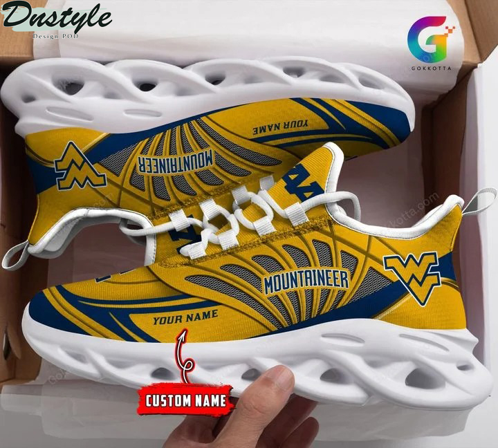 West virginia mountaineers NCAA personalized max soul shoes