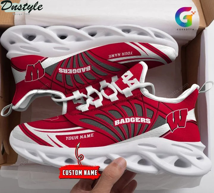 Wisconsin badgers NCAA personalized max soul shoes