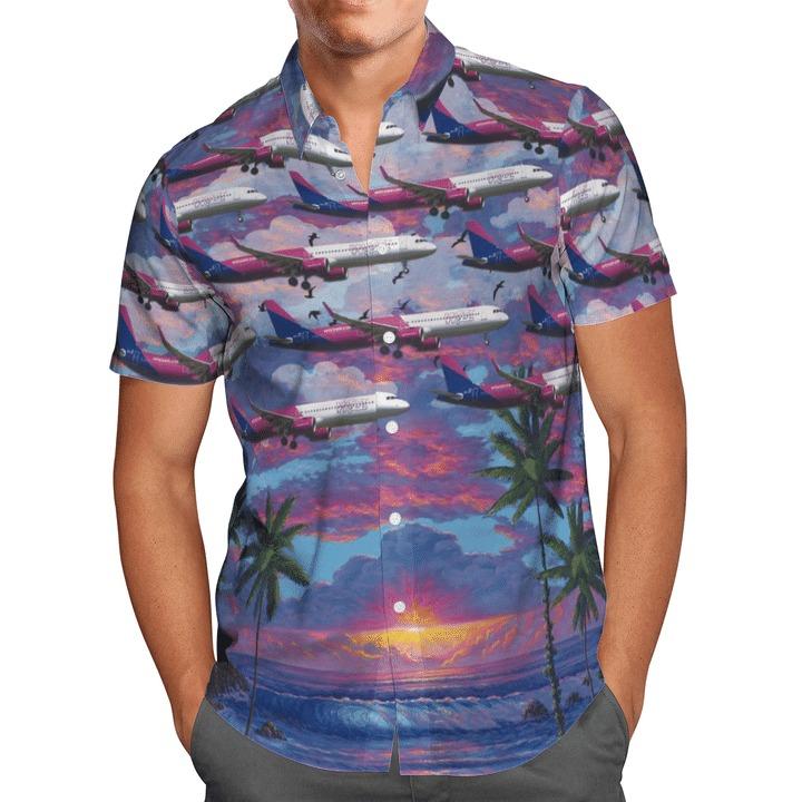 Wizz air hungary airbus a321-271nx hawaiian shirt 1