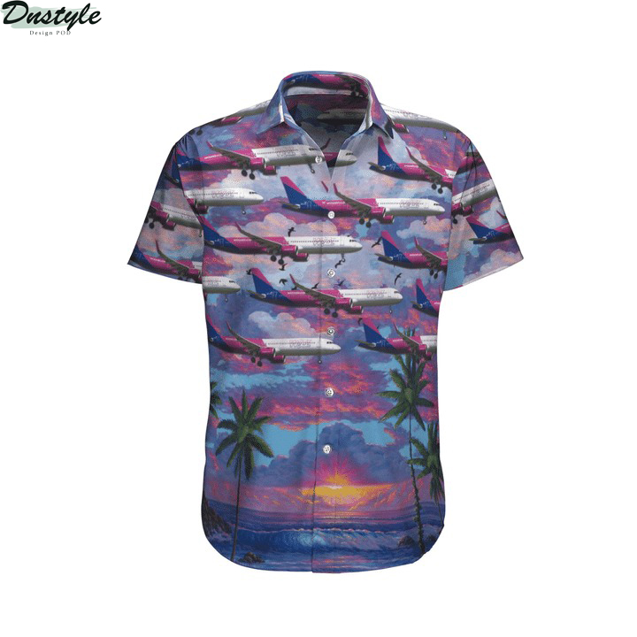 Wizz air hungary airbus a321-271nx hawaiian shirt