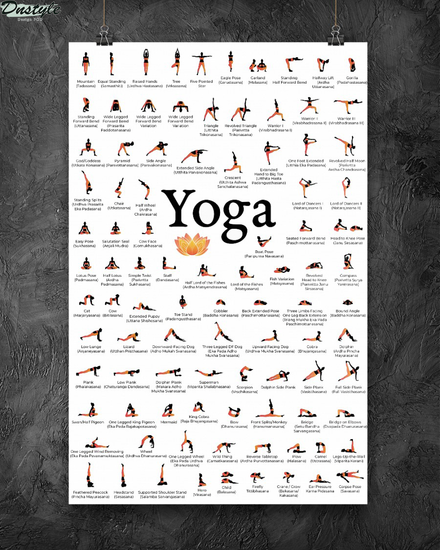 Yoga 150 poses your body wishes to practice poster