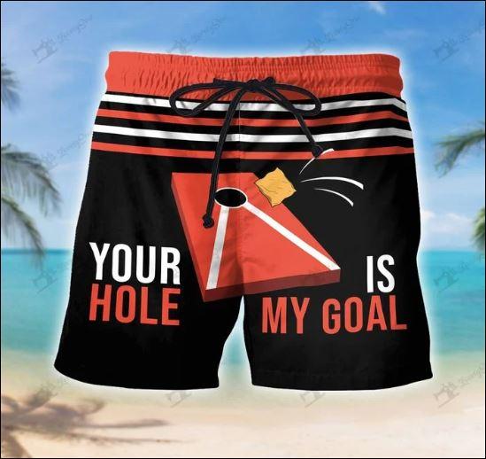 Your hole is my goal beach short